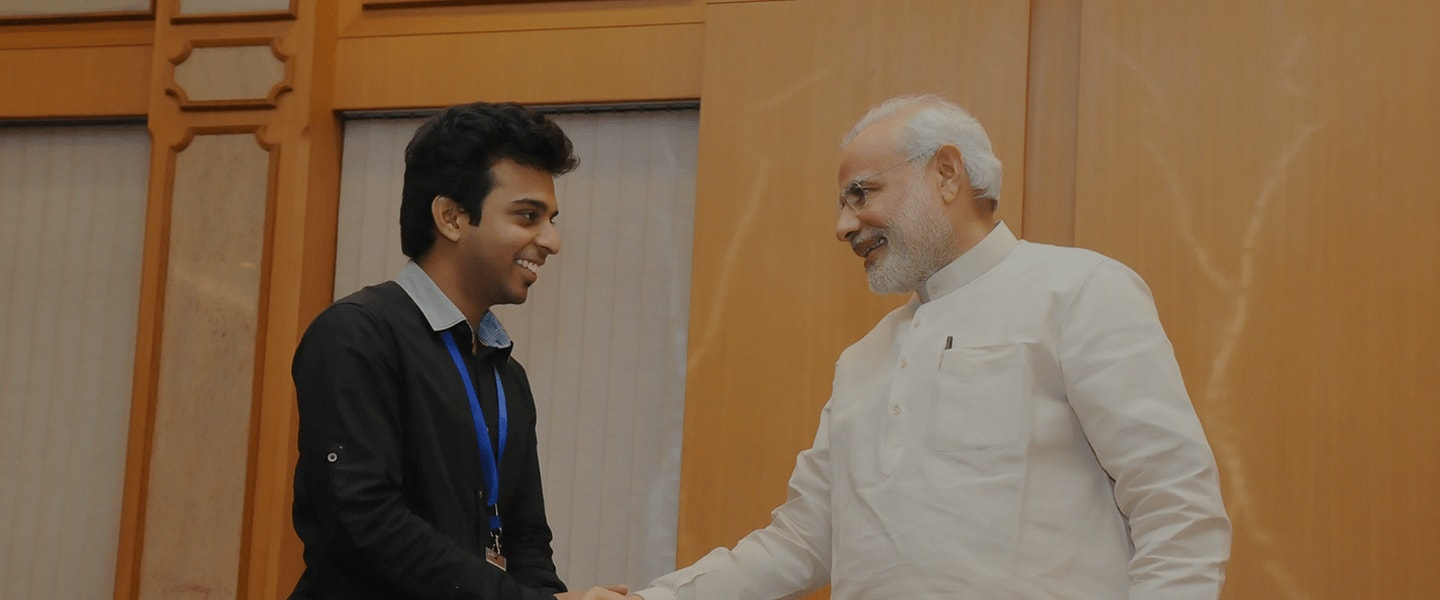 Narendra Modi with Rehanul Haque
